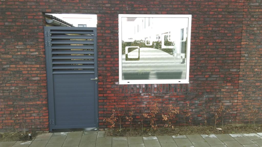 Real photo backyard entrance gate