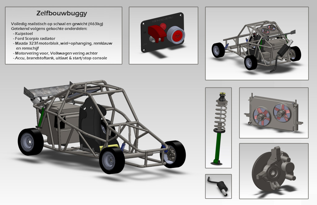 Detailled engineering of home made buggy